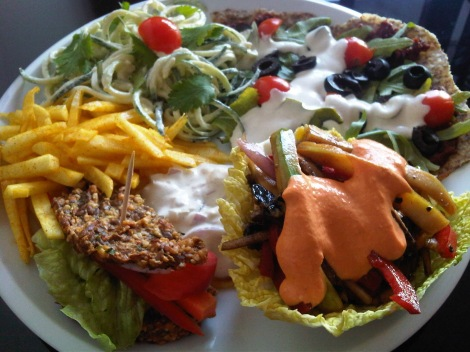"The tasting plate for one (€ 9) or two (€ 14) at the ""Secret of Raw"" vegan restaurant in Žižkov. Photo: http://healthyinprague.blogspot.cz"